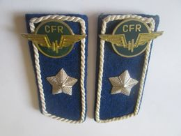 Epaulettes Romanian Railways(CFR) From 80s - Ferrovie