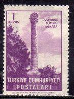 TURCHIA TURKÍA TURKEY 1963 JULIAN'S COLUMN ANKARA 1k MNH - 1921-... Republic