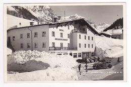 Hesse Langen Hôtel Arlbergerhof N°75345 Café Restorant VOIR ZOOM Autos Cabriolet ? Mercedes VW Käfer Hotchkiss ? - Langen
