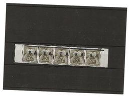 SURCHARGE  E A   ORAN   TAXE      9    8  X     5    BARRETTE ENTIERE - Algerien (1962-...)