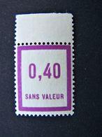 FICTIFS NEUF ** N°F 32 DEFAUT DE GOMME SANS CHARNIERE (FICTIF F32) - Phantomausgaben