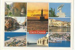 CPM ,Grèce , N° M.317, Crete , Chania , Multi-Vues  , Ed. Adam - Grecia