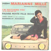 VINYLE 45T MARIANNE MILLE 1963 SUPERBE POCHETTE VOITURE AUTOMOBILE SIMCA 1000 - Voitures