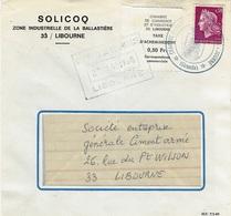 GREVES DE 1968- Lettre Acheminée Par La Chambre De Commerce De Libourne Avec Taxe à 0,50 Fr - Marcophilie (Lettres)