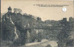 2020 - 06 - SEINE - 75 - PARIS - 19ème Arrondissement : Buttes Chaumont -Le Belvédére, Lac Et Pont Suspendu - Arrondissement: 19