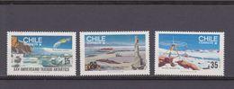 Chile 1985 Antarctic Treaty Ca Yv. 699-701 - Tratado Antártico