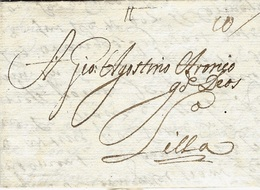 1679- Letter From Lisboa To Lille ( North Of France  - Rating 10 Patars - Portugal
