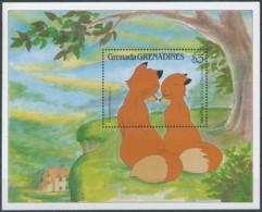 NB - [91501]SUP//**/Mnh-GRENADINES - Walt Disney - Rox Et Rouky, Moment De Tendresse, B.D, Le Bloc De 5$ - Disney