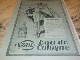 ANCIENNE  PUBLICITE EAU DE COLOGNE  4711 DEUX MOYENS MADAME  1928 - Parfums & Beauté