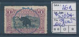 BELGIAN CONGO  COB 26B LILAC USED TUMBA POST - 1894-1923 Mols: Used