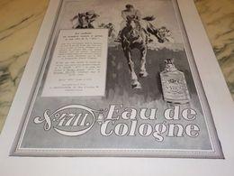 ANCIENNE PUBLICITE EAU DE COLOGNE 4711  LES COULEURS  1928 - Parfums & Beauté