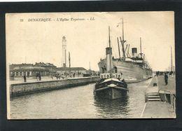 CPA - DUNKERQUE - Paquebot Quittant Le Port, Animé - Dunkerque