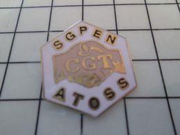 115d Pin's Pins / Rare Et De Belle Qualité !!! THEME ASSOCIATIONS / SCPEN ATOSS CGT SYNDICAT COMMUNISSSSSSSE ! - Associations