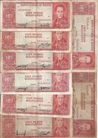BOLIVIE 100 PESOS L.1962 VF P 163 ( 8 Billets) Sign Diff - Bolivia