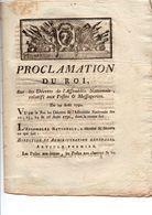 PROCLAMATION Du ROI Sur Décrets Relatifs Aux POSTES Du 29 Août 1790 (CLR 1) - Historische Dokumente