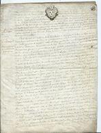 CACHET GENERALITE DE BRETAGNE Sur Parchemin De 4 Pages - 1766 - Cachets Généralité