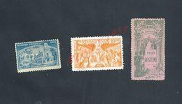 LOT DE 3 VIGNETTES DE L EXPOSITION UNIVERSELLE PARIS 1900 TRACE DE CHARNIERE : - Commemorative Labels