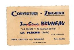 Carte De Visite Couverture Zinguerie Jean Claude Bruneau La Plesse Saint Germain Du Val St La Fleche Sarthe Le Mans - Cartoncini Da Visita