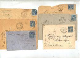 Lot 70 Lettres Cachet Sur Sage Pour Etude à Voir - Matasellos Manuales