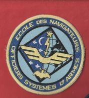 écusson Brodé Militaire école Des Navigateurs Officiers Systèmes D'armes - Ecussons Tissu