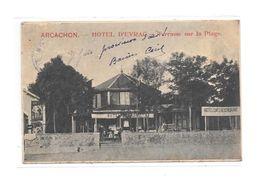 33 - ARCACHON : Hotel D' EYRAC, Terrasse Sur La Plage, - Arcachon