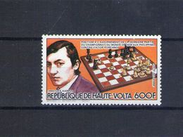 Haute Volta. Poste Aérienne. échecs. Karpov - Obervolta (1958-1984)