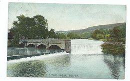 Derbyshire Belper Postcard The Weir Clear Large Belper Squared Circle 1905 - Derbyshire