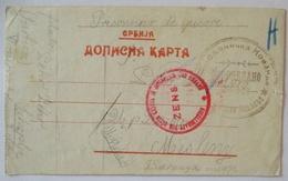 Nordmazedonien, Szkopje, Kriegsgefangenenpost POW Mail 1915 Nach Misleny (7770) - War 1914-18