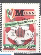 Italy Used 1988 Football, Soccer, Calcio, National Football Champions - Milan - 1981-90: Usados