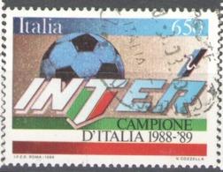 Italy Used 1989 Football, Soccer, Calcio, National Football Champions - INTER - 1981-90: Usados