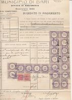 MARCA DA BOLLO MARCHE DA BOLLO REVENUE  MEGA BLOCCO LIRE 50 SU 5,40 - Vecchi Documenti