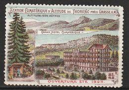 VIGNETTE / Grand Hôtel Climatérique De Thorenc (1898) - Erinnophilie