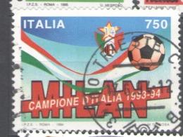 Italy Used 1994 Football, Soccer, Calcio, Italian Football Champions - AC Milan - 1991-00: Usados