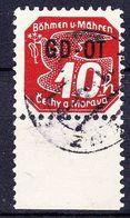 Boheme Et Moravie 1939 Mi 51 (Yv TPJ 10), Obliteré, Dentelé Avec Bdf - Oblitérés