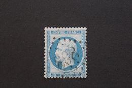 GC 808, CERCY-LA-TOUR,INDRE, SUR  Y&T NO 22, 20 C BLEU EMPIRE FRANC TB...RARE - 1849-1876: Periodo Clásico