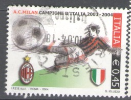 Italy Used 2004 Football, Soccer, Calcio, Italian Football Champions - Milan - 2001-10: Usados