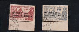 CAMEROUN 1940 YT 245/246 - SPITFIRE - GENERAL DE GAULLE - Oblitération Lisible1941 - Cameroun (1915-1959)