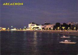33 - Arcachon - Vue De Nuit Du Palais Des Congrès Et De La Plage - Arcachon