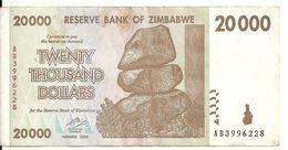 ZIMBABWE 20000 DOLLARS 2008 VF P 73 - Simbabwe