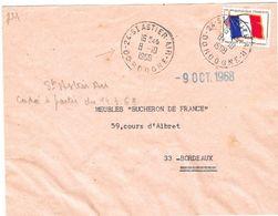 Lettre Cachet Manuel Agence Postale AIR De 24-St Astier-Air-Dordogne 8 -10 I968 - Marcophilie (Lettres)