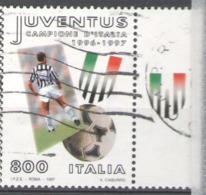 Italy Used 1997 Football, Soccer, Calcio, National Football Champions, Juventus - 1991-00: Usados