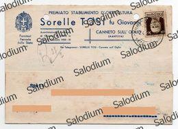 1942 - CANNETO SULL' OGLIO SULL'OGLIO - MANTOVA  - Pubblicitaria - Orticoltura Agraria Fornitori Ferrovie Dello Stato - Mantova
