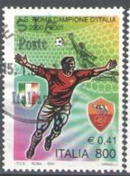 Italy Used 2001 Football, Soccer, Calcio, National Football Champions, Roma - 2001-10: Usados