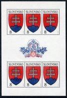 SLOVAKIA 1993 Arms Of The Republic Sheetlet MNH / **.  Michel 162 Kb - Slovacchia