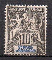 Col17  Colonie Sainte Marie De Madagascar N° 5 Neuf X MH Cote 17,00 € - Neufs