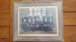TOURCOING LYCEE 1913 PHOTO ORIGINALE SUR CARTON  29  X 24 CM - Orte