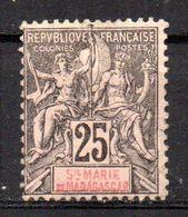 Col17  Colonie Sainte Marie De Madagascar N° 8 Neuf X MH Cote 28,00 € - Neufs