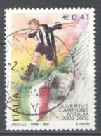 Italy Used 2003 Football, Soccer, Calcio, Italian Champion Juventus Football Team - 2001-10: Usados