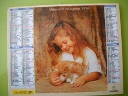 1186 Calendrier Du Facteur 1998  Petite Fille Et Son Chat,, Petite Fille Jardin , Fleurs, Arrosoir, - Grand Format : 1991-00