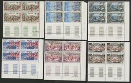 MONACO N° 939 à 945 Cote 25.2€ 7 Blocs De 4 Neufs ** (MNH) Avec Coin Daté (voir Description) Série Complète De 7 Valeurs - Monaco